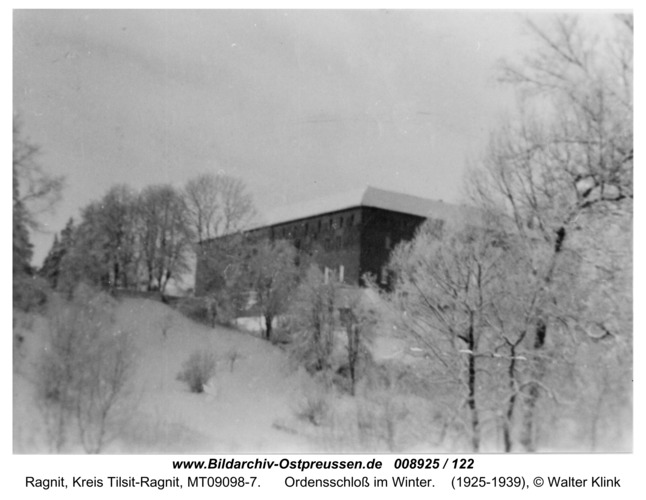 Ragnit, Ordensschloss im Winter