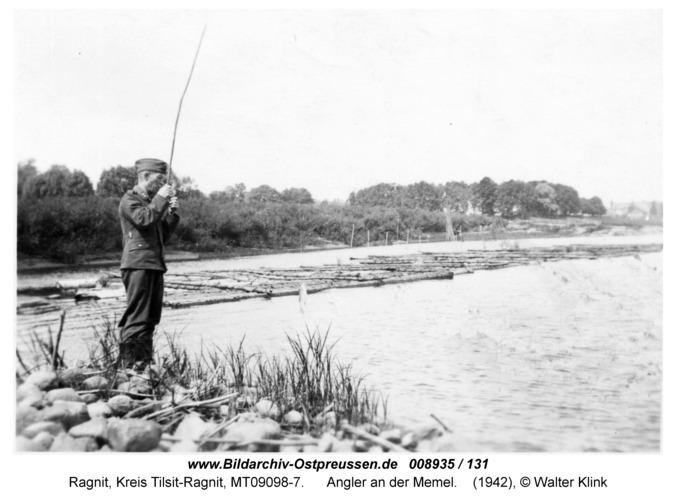 Ragnit, Angler an der Memel