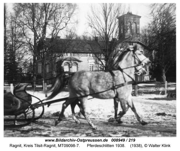 Ragnit-Althof, Pferdeschlitten 1938