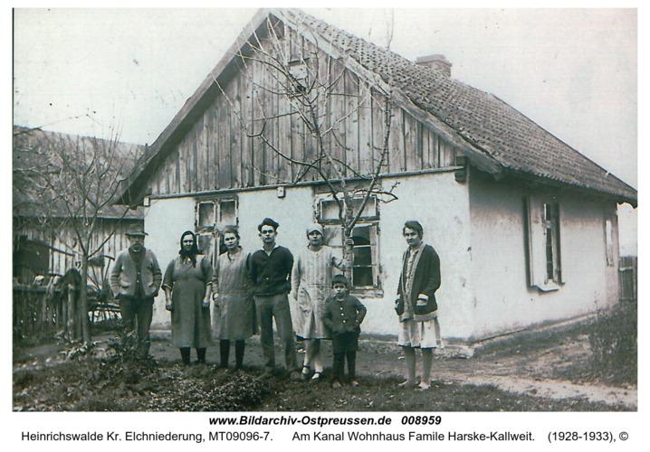 Heinrichswalde, Am Kanal Wohnhaus Famile Harske-Kallweit