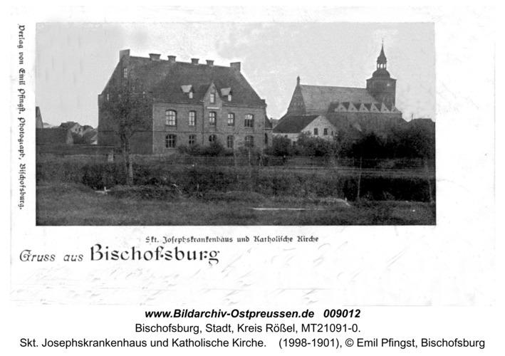 Bischofsburg, Skt. Josephskrankenhaus und Katholische Kirche