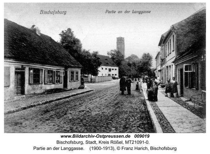 Bischofsburg, Partie an der Langgasse