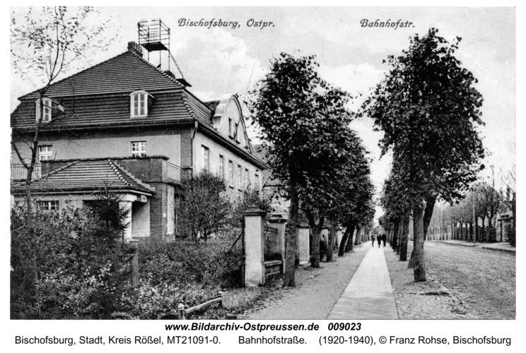 Bischofsburg, Bahnhofstraße