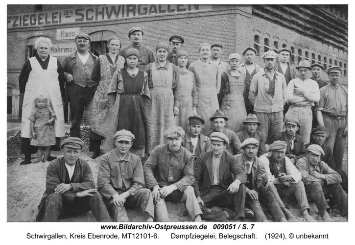 Eichhagen, Ziegelei, Belegschaft