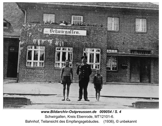 Eichhagen, Bahnhof, Teilansicht des Empfangsgebäudes