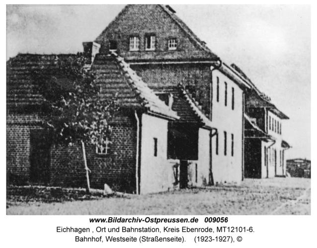 Eichhagen, Bahnhof, Westseite (Straßenseite)
