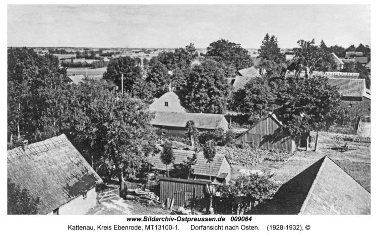 Kattenau, Dorfansicht nach Osten