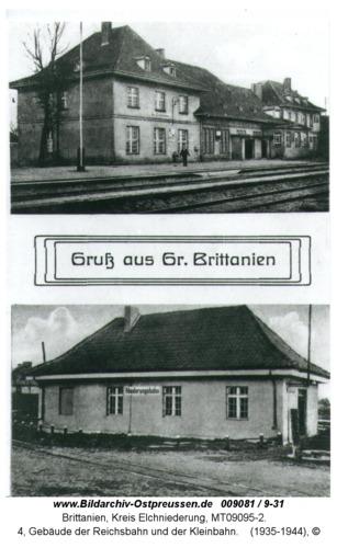 Brittanien, 4, Gebäude der Reichsbahn und der Kleinbahn