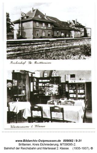 Brittanien 8, Bahnhof der Reichsbahn und Wartesaal 2. Klasse