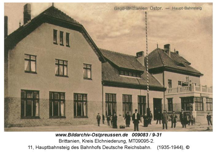Brittanien, 11, Hauptbahnsteig des Bahnhofs Deutsche Reichsbahn