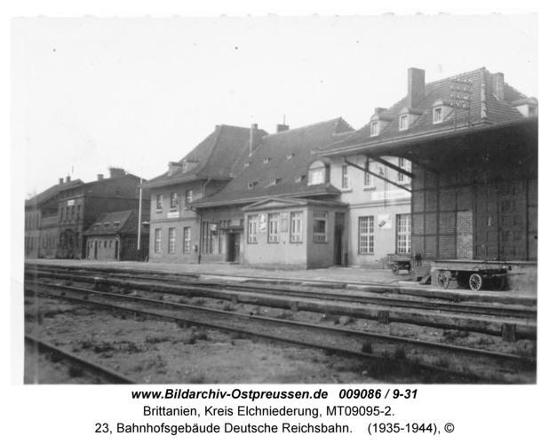 Brittanien, 23, Bahnhofsgebäude Deutsche Reichsbahn