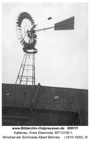 Kattenau, Windrad der Schmiede Albert Böhnke