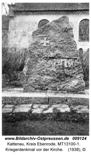 Kattenau, Kriegerdenkmal vor der Kirche