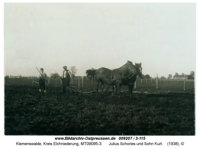 Klemenswalde, Julius Schories und Sohn Kurt