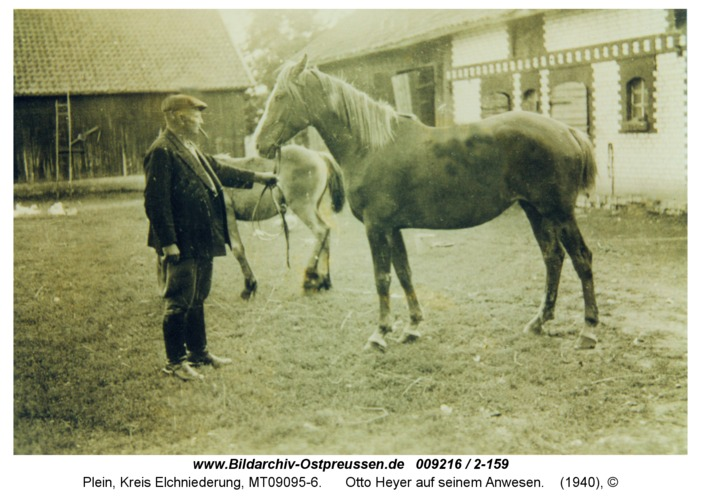 Plein, Otto Heyer auf seinem Anwesen