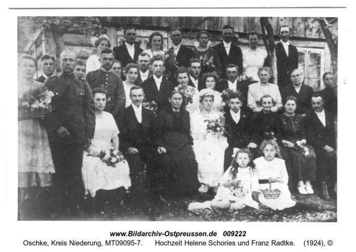 Wildwiese, Hochzeit Helene Schories und Franz Radtke