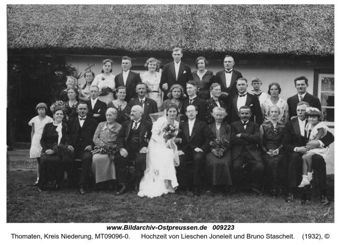 Thomaten, Hochzeit von Lieschen Joneleit und Bruno Stascheit