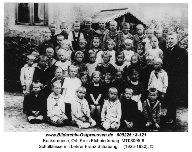 Kuckerneese, Schulklasse mit Lehrer Franz Schabang