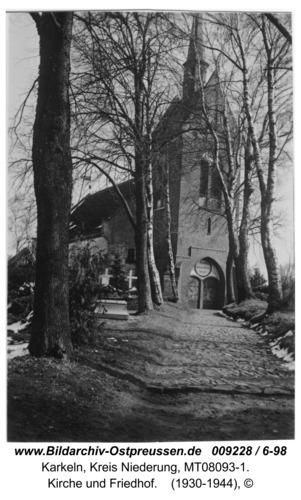 Karkeln, Kirche und Friedhof