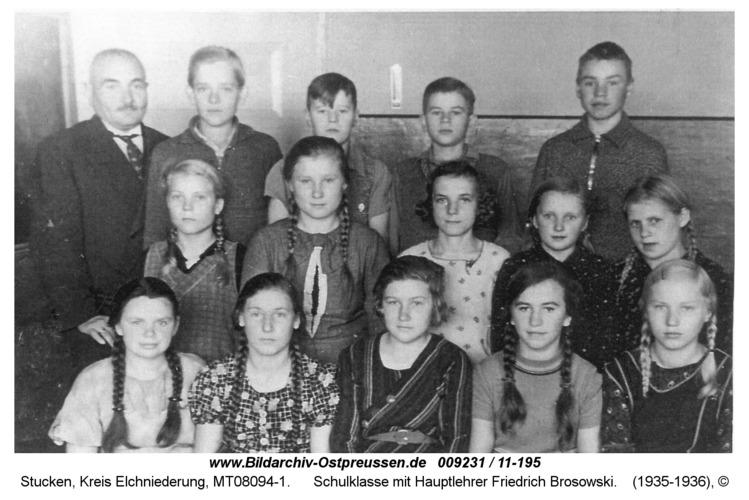 Stucken, Schulklasse mit Hauptlehrer Friedrich Brosowski