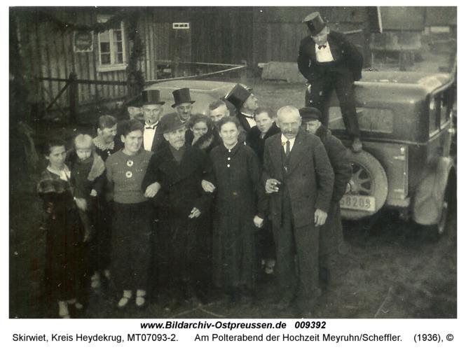 Skirwiet, am Polterabend der Hochzeit Meyruhn/Scheffler