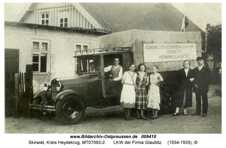 Skirwiet, LKW der Firma Glaubitz