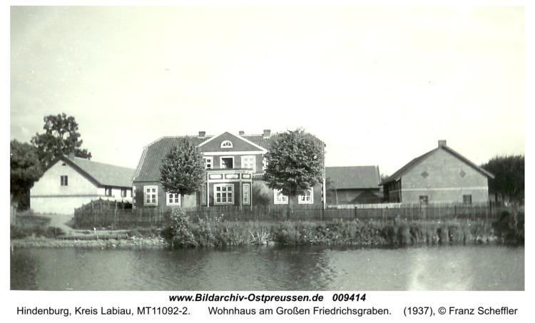 Hindenburg, Wohnhaus am Großen Friedrichsgraben