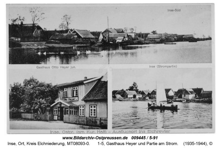 Inse, 1-5, Gasthaus Heyer und Partie am Strom