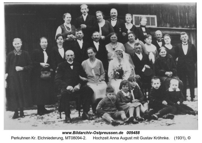 Perkuhnen, Hochzeit Anna August mit Gustav Kröhnke
