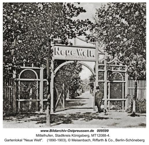 """Mittelhufen, Gartenlokal """"Neue Welt"""""""