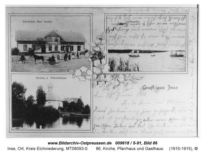 Inse, 86, Kirche, Pfarrhaus und Gasthaus