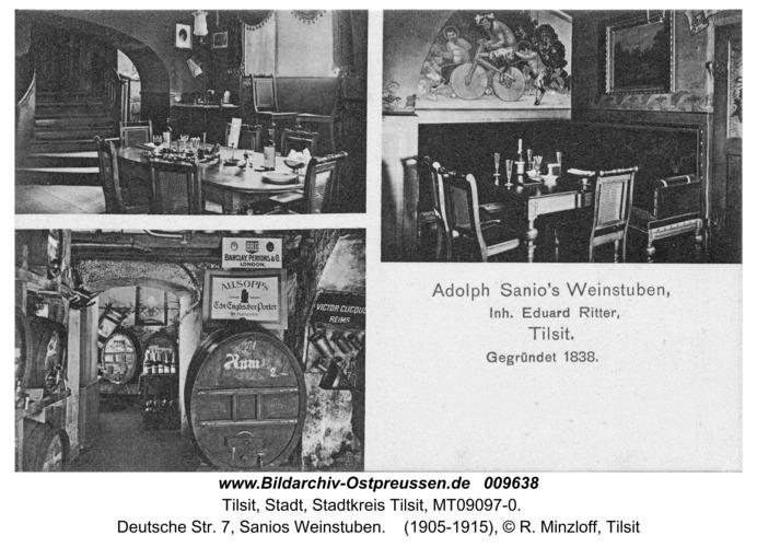 Tilsit, Deutsche Str. 7, Sanios Weinstuben
