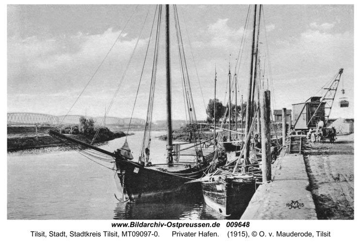 Tilsit, Privater Hafen