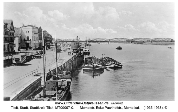 Tilsit, Memelstr. Ecke Packhofstr., Memelkai