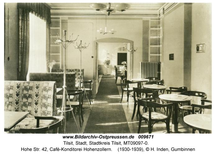 Tilsit, Hohe Str. 42, Café-Konditorei Hohenzollern