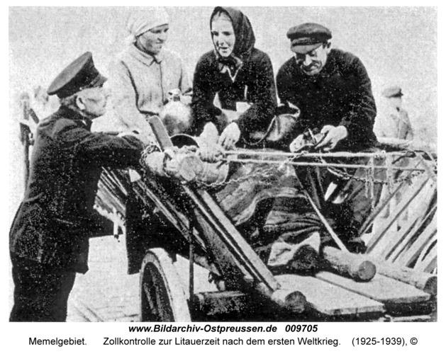 Memelgebiet, Zollkontrolle zur Litauerzeit nach dem ersten Weltkrieg