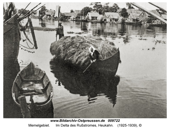 Memelgebiet, Im Delta des Rußstromes, Heukahn