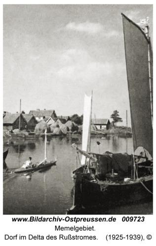 Memelgebiet, Dorf im Delta des Rußstromes