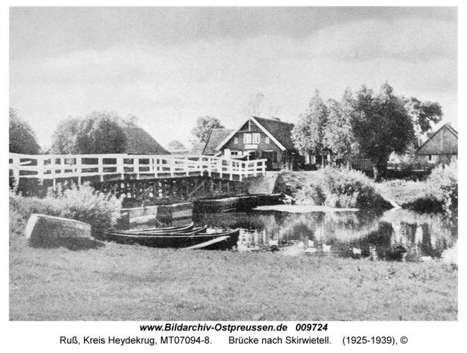 Ruß, Brücke nach Skirwietell