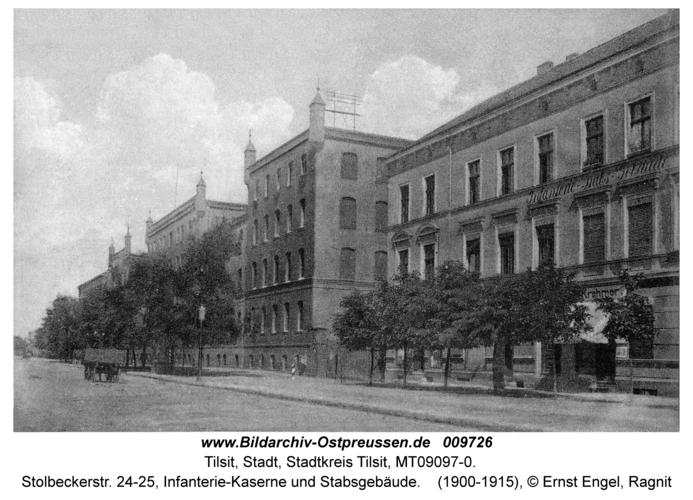 Tilsit, Stolbeckerstr. 24-25, Infanterie-Kaserne und Stabsgebäude