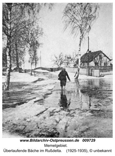 Memelgebiet, Übelaufende Bäche im Rußdelta