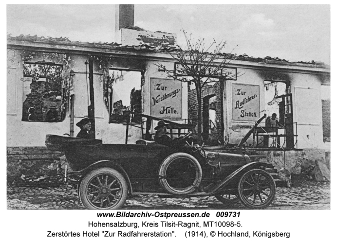 """Hohensalzburg, Zerstörtes Hotel """"Zur Radfahrerstation"""""""