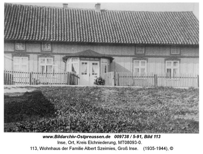 Inse, 113, Wohnhaus der Familie Albert Szeimies, Groß Inse