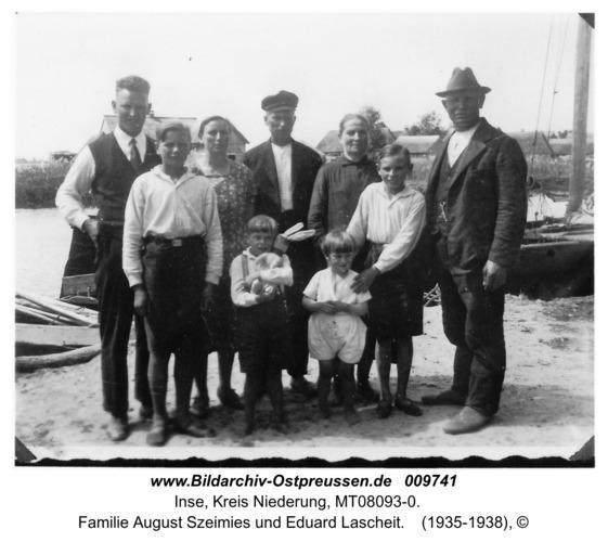 Inse, Familie August Szeimies und Eduard Lascheit
