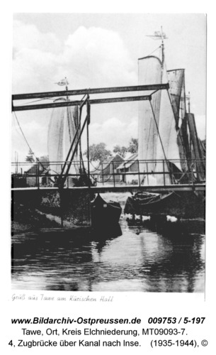 Tawe, 4, Zugbrücke über Kanal nach Inse