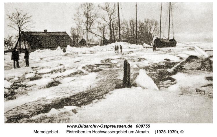 Memelgebiet, Eistreiben im Hochwassergebiet um Atmath