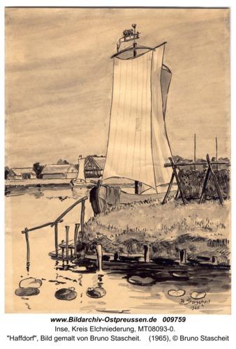 """Inse, """"Haffdorf"""", Bild gemalt von Bruno Stascheit"""
