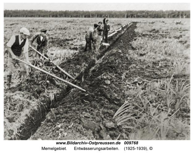 Memelgebiet, Entwässerungsarbeiten