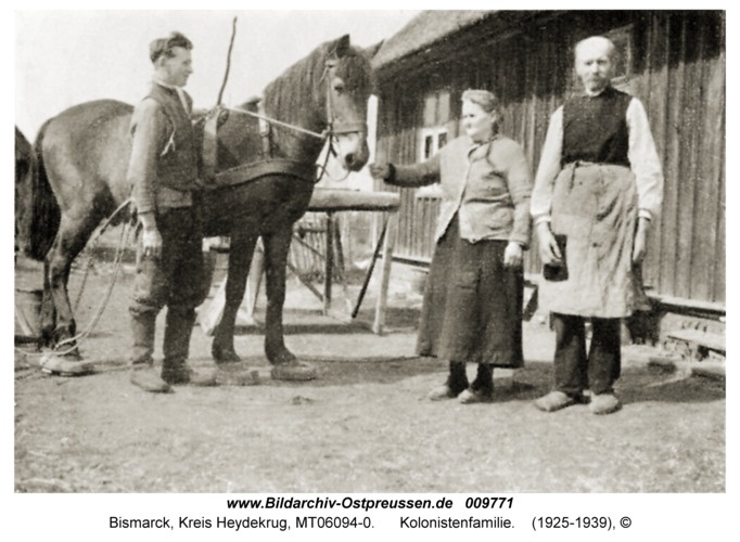 Bismarck, Kolonistenfamilie