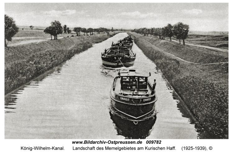 König-Wilhelm-Kanal, Landschaft des Memelgebietes am Kurischen Haff